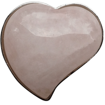 ReadyGolf: Gemstone Heart Shaped Ball Marker - Rose Quartz