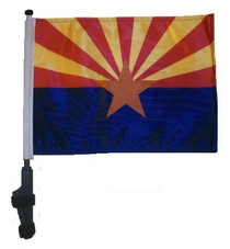 SSP Flags: 11x15 inch Golf Cart Flag with Pole - State of Arizona