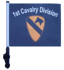 SSP Flags: 11x15 inch Golf Cart Flag with Pole - 1st Cavalry Division