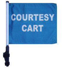 SSP Flags: 11x15 inch Golf Cart Flag with Pole - Courtesy Cart