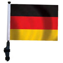 SSP Flags: 11x15 inch Golf Cart Flag with Pole - Germany
