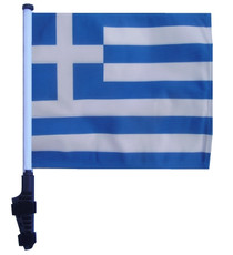 SSP Flags: 11x15 inch Golf Cart Flag with Pole - Greece