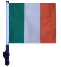 SSP Flags: 11x15 inch Golf Cart Flag with Pole - Ireland