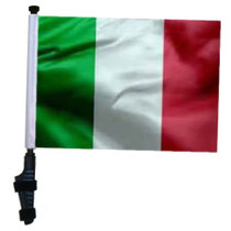 SSP Flags: 11x15 inch Golf Cart Flag with Pole - Italy