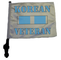 SSP Flags: 11x15 inch Golf Cart Flag with Pole - Korean Veteran Service Ribbon
