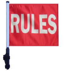 SSP Flags: 11x15 inch Golf Cart Flag with Pole - Rules