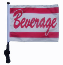 SSP Flags: 11x15 inch Golf Cart Flag with Pole - Beverage