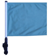 SSP Flags: 11x15 inch Golf Cart Flag with Pole - Light Blue/ Sky Blue
