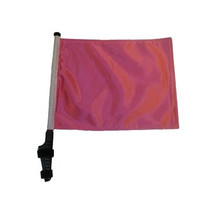 SSP Flags: 11x15 inch Golf Cart Flag with Pole - Pink