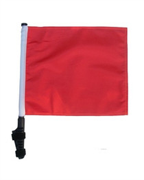 SSP Flags: 11x15 inch Golf Cart Flag with Pole - Orange