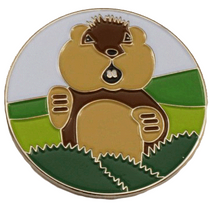 Dancing Gopher Golf Ball Marker & Hat Clip