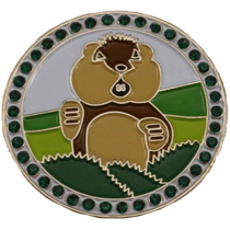 Dancing Gopher with Crystals Golf Ball Marker & Hat Clip