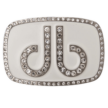 Druh Belts: DB Diamond White Buckle