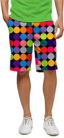Loudmouth Golf: Men's Shorts - Disco Balls Black
