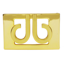 Druh Belts: Druh 3D Gold Buckle