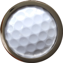 ReadyGolf: Golf Ball Skins Ball Marker & Hat Clip - White