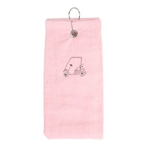 Dolly Mama Tri-Fold Golf Towel - Golf Cart Design