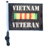 SSP Flags: 11x15 inch Golf Cart Flag with Pole - Vietnam Veteran