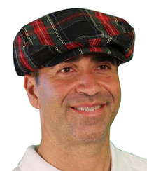 Golf Knickers: Men's Par 5 Cotton/Ramine Plaid Golf Cap