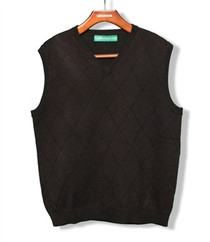 Golf Knickers: Men's Solid Sweater Vest
