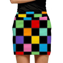 Loudmouth Golf: Womens Skort - HollyWoody Squares (Size 0)