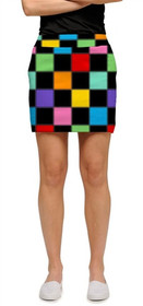 Loudmouth Golf: Womens Skort - HollyWoody Squares