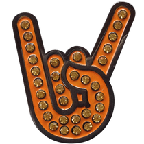 ReadyGolf: Hook 'em Horns Gesture Ball Marker & Hat Clip