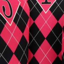 BeeJo's: Golf Headcover - Hot Pink and Black Argyle ***SHIP DATE JULY 6***