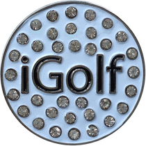 ReadyGolf: iGolf Ball Marker & Hat Clip with Crystals