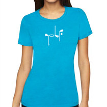 It Says Golf: Women's Premium T-Shirt - Turquoise