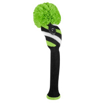 Just 4 Golf: Fairway Headcover - Diagonally Stripe - Black, Lime Green & White