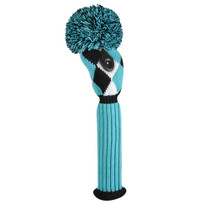 Just 4 Golf: Fairway Headcover - Diamond - Turquoise, Black & White