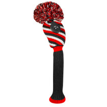 Just 4 Golf: Hybrid Headcover - 3 Color Diagonal Stripe - Red Black and White