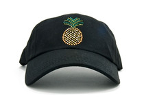Dolly Mama Ladies Baseball Hat - Pineapple on Black