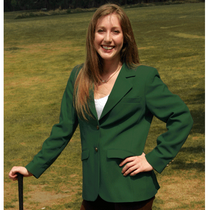 Trophy Club: Ladies Blazer Jacket - Green