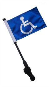 SSP Flags: Small 6x9 inch Golf Cart Flag with EZ On/Off Pole Bracket - Handicap