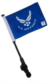 SSP Flags: Small 6x9 inch Golf Cart Flag with EZ On/Off Pole Bracket - Licensed Air Force