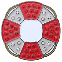 ReadyGolf: Lifesaver Ball Marker & Hat Clip with Crystals