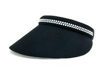 Dolly Mama Medium Clip on Visor - Kaitlin with Swarovski Crystals