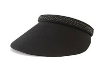 Dolly Mama Ladies Full Clip-on Visor - Katherine - Black/Caviar