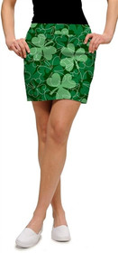 Loudmouth Golf Womens Skort - Lucky Shamrocks