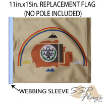 SSP Flags: 11x15 inch Golf Cart Replacement Flag - Navajo Nation