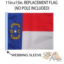 SSP Flags: 11x15 inch Golf Cart Replacement Flag - State of North Carolina