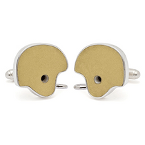 Notre Dame Game Used Football Helmet Cuff Links by Tokens and Icons