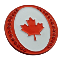 ReadyGolf: Oh Canada Ball Marker & Hat Clip with Crystals