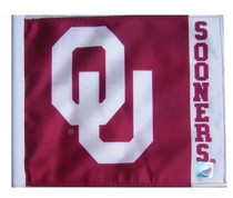 SSP Flags: University 11x15 inch Flag Variety - Oklahoma Sooners (Name On Fly End)