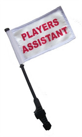 SSP Flags: Small 6x9 inch Golf Cart Flag with EZ On/Off Pole Bracket - Players Assistant
