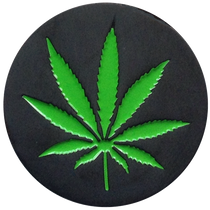 ReadyGolf: Marijuana Pot Leaf Weed Ball Marker & Hat Clip