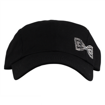 Dolly Mama Ladies Baseball Hat - Bow on Black