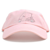 Dolly Mama Ladies Baseball Hat - Golf Cart on Pink